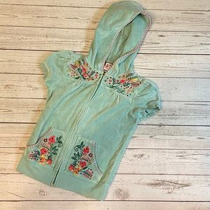 Juicy Couture terry hoodie coverup embroidered 6